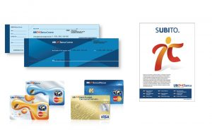 ubi banca rebranding materials POS credit cards communication