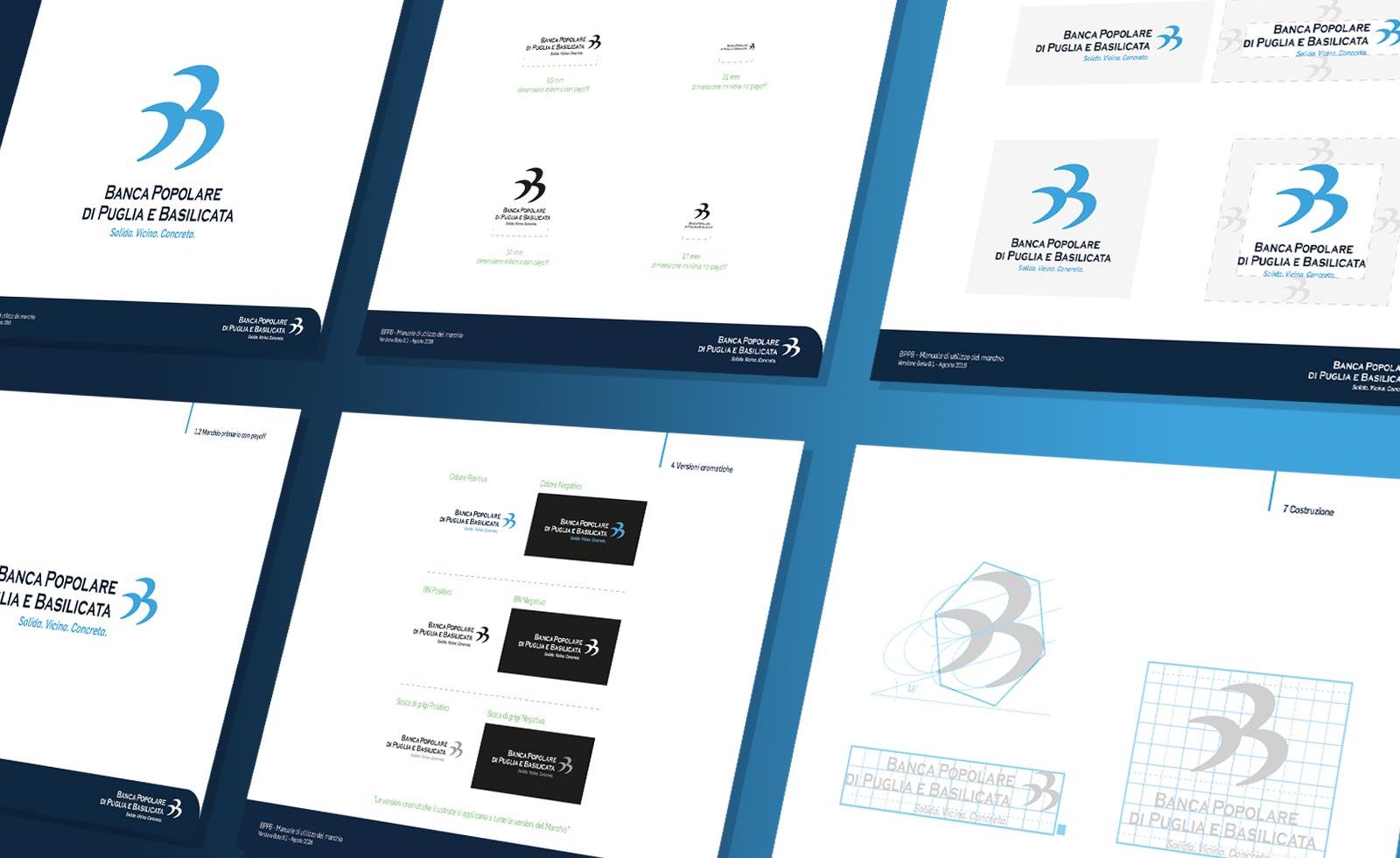 bppb banca popolare di puglia e basilicata rebranding design guidelines brandbook