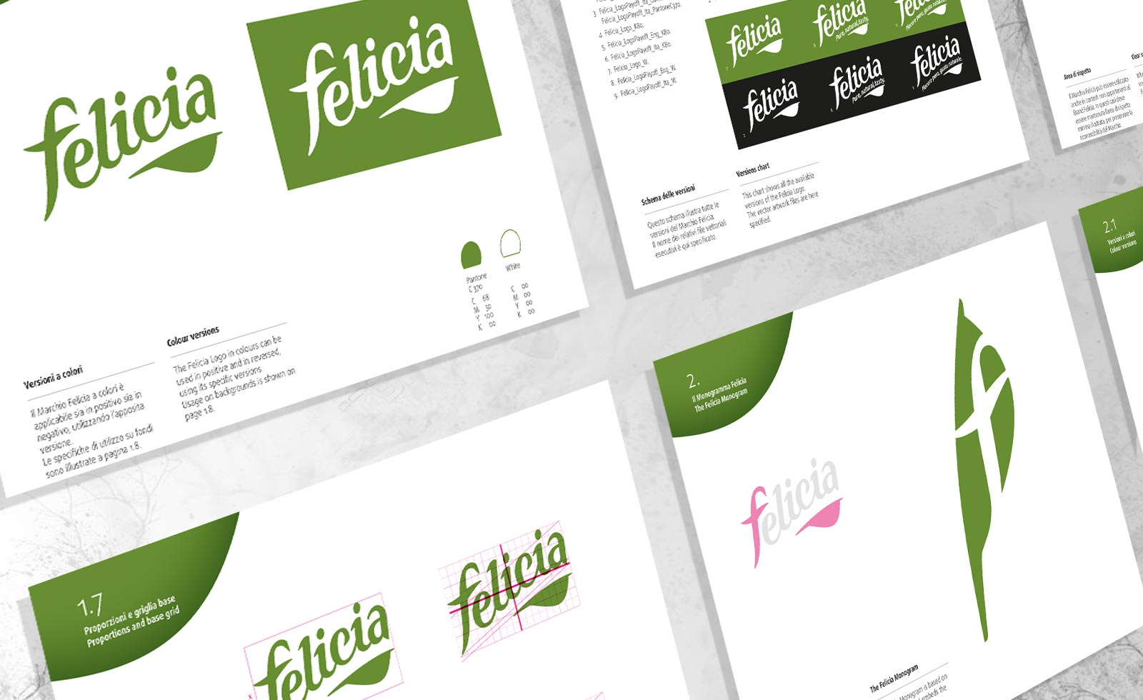 pasta Felicia gluten-free rebranding brandbook design guidelines