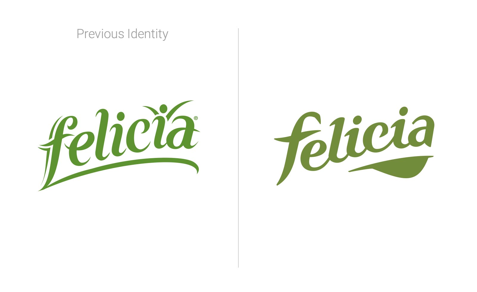 pasta Felicia gluten-free redesign identity logo rebranding