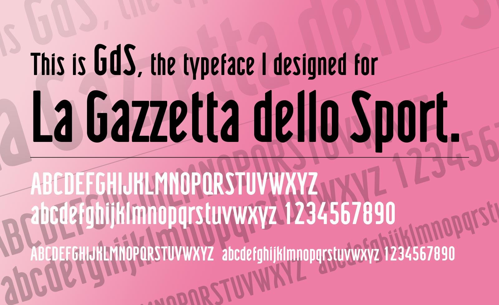 gazzetta dello sport brand typeface font design