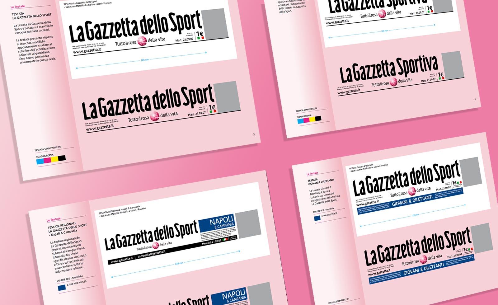 gazzetta dello sport testate regionali rebranding