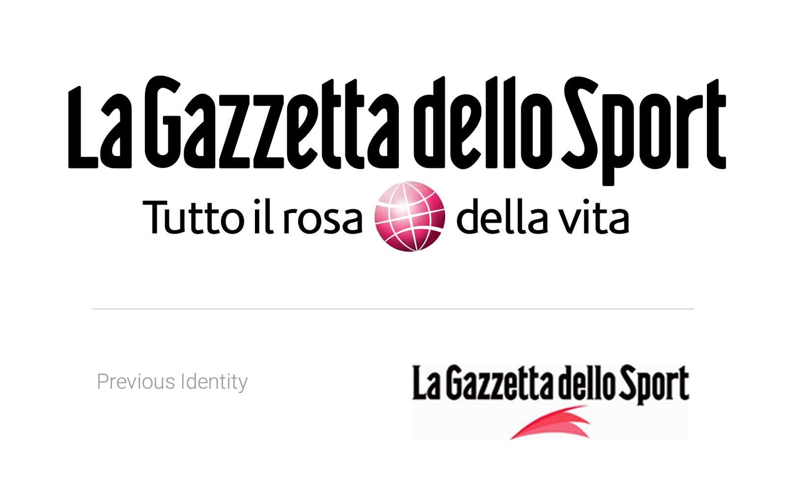 gazzetta dello sport redesign identity before after