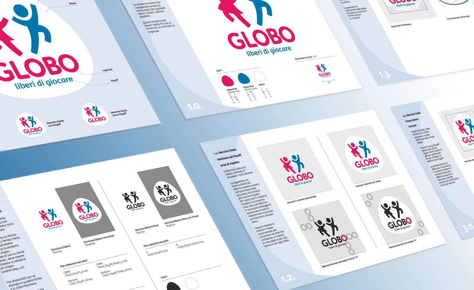 globo giocattoli redesign brandbook