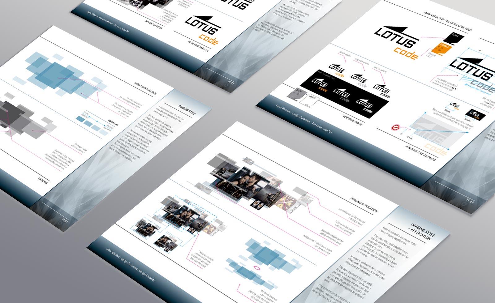 lotus watches rebranding design guidelines