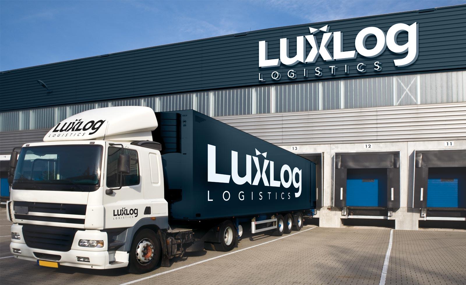 luxlog logistics fashion corporate identity brand
