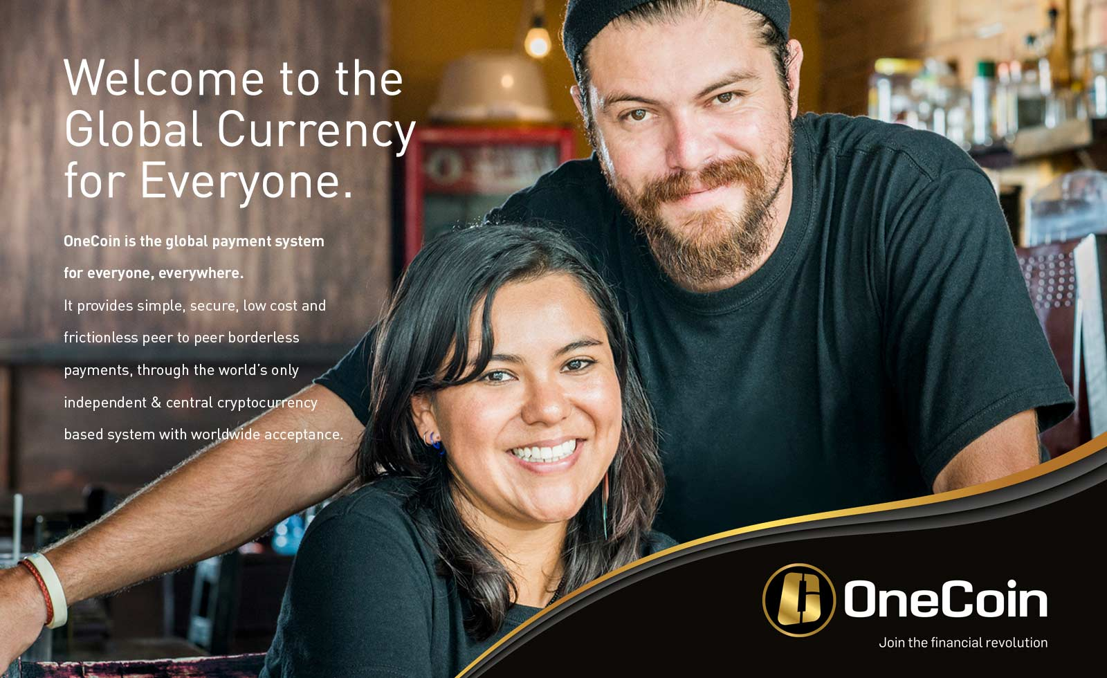 onecoin cryptocurrency adv advertising design