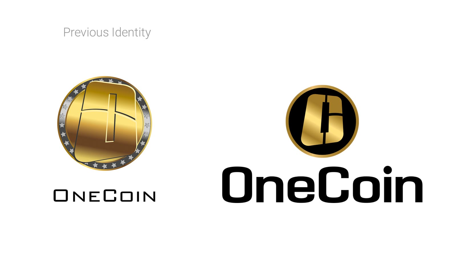 onecoin brandmark redesign cryptocurrency