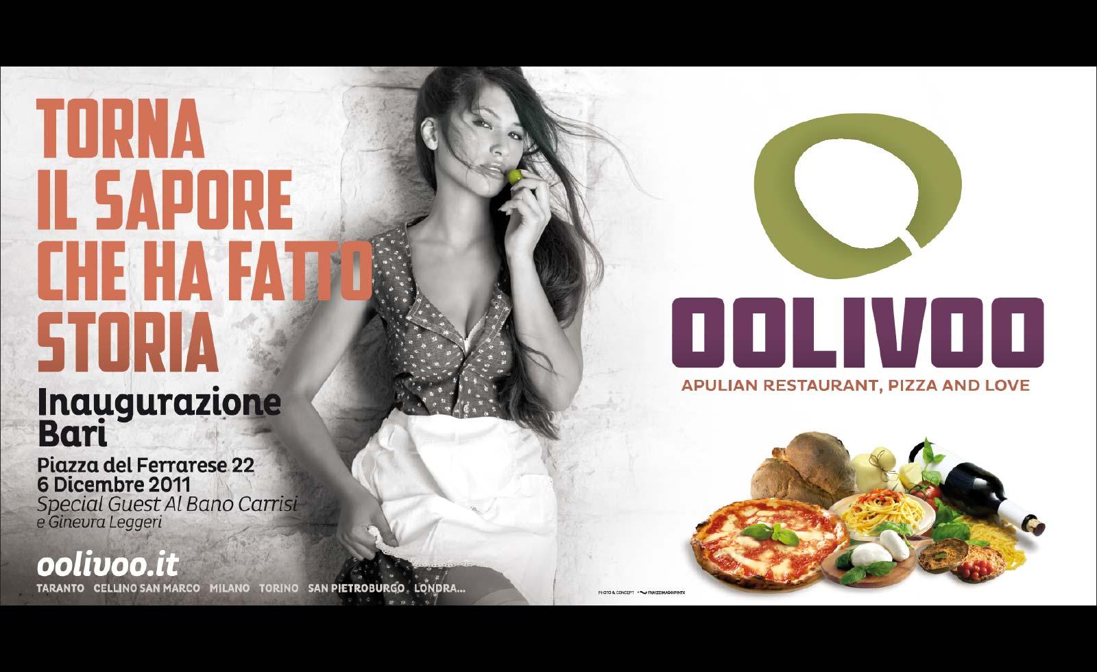 oolivoo pizza restaurant advertising adv campaign pubblicita ristorante