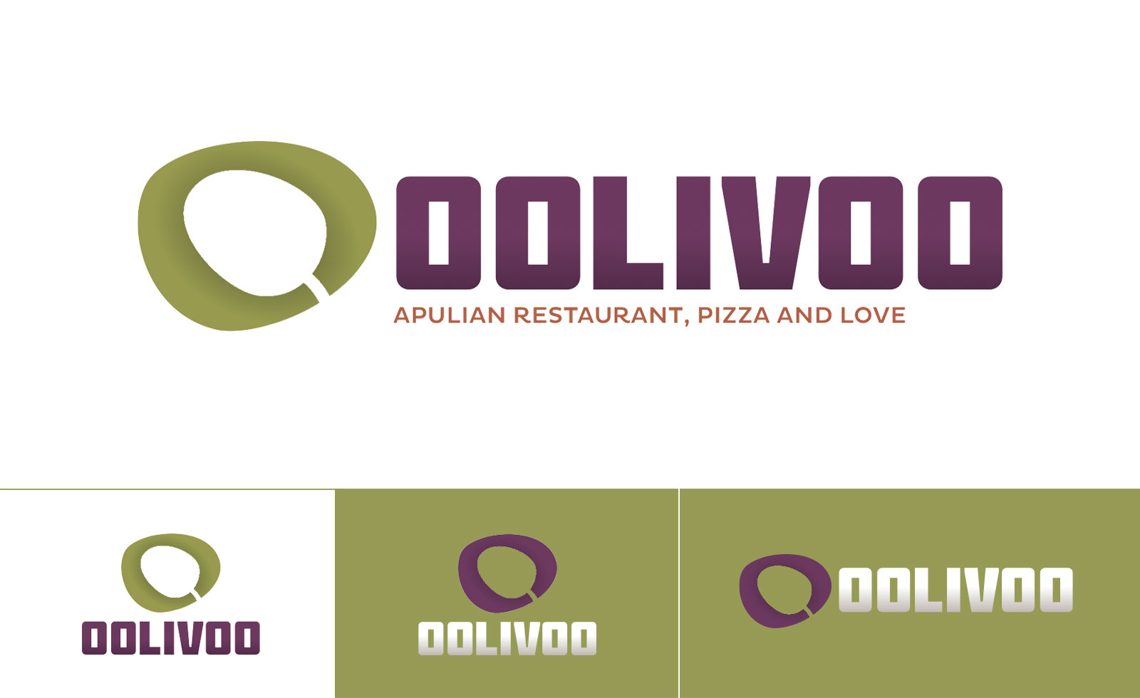 oolivoo pizza restaurant brand logo identity