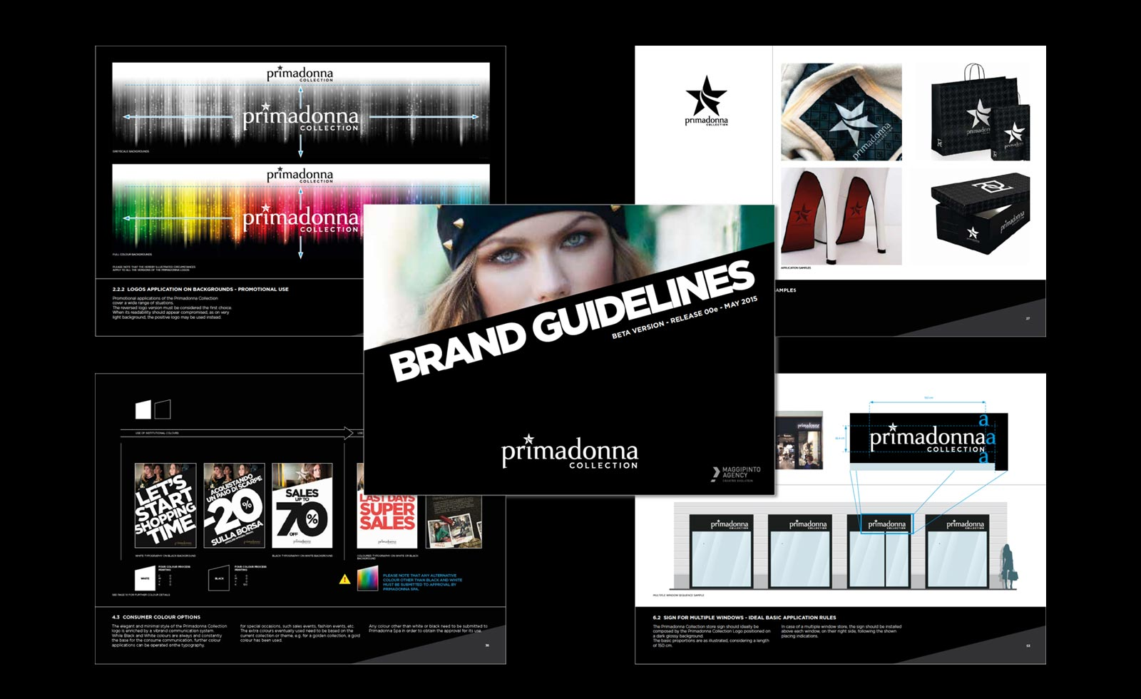 primadonna collection shoes fashion brand guidelines rebranding brandbook