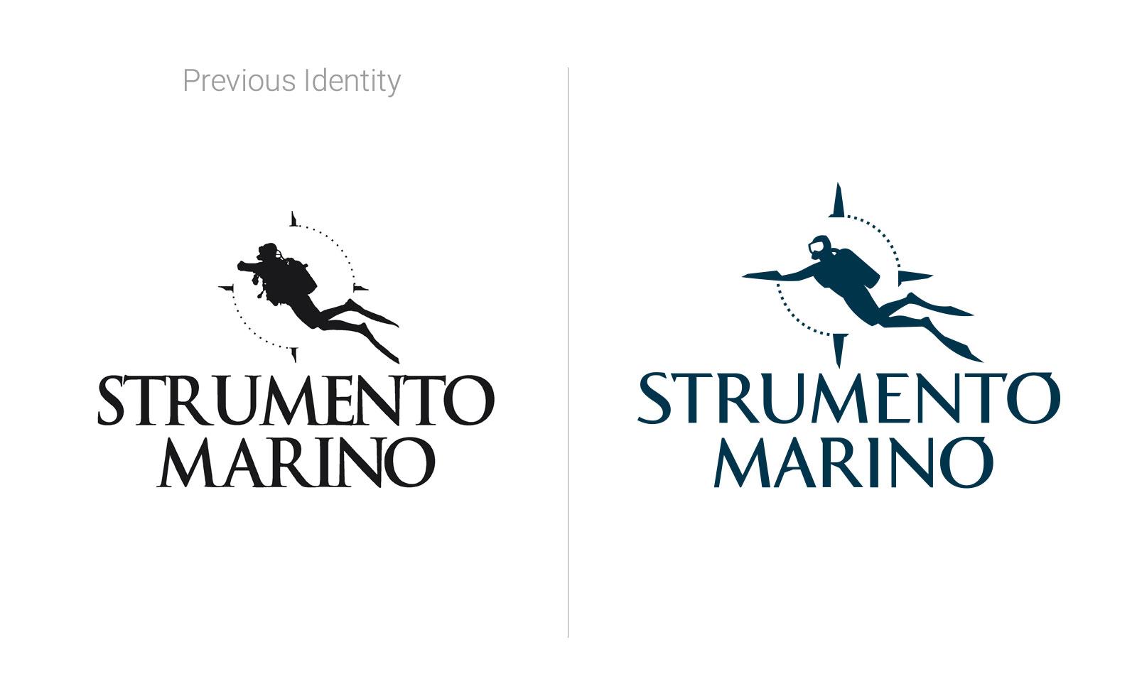 strumento marino watches brand redesign logo scuba