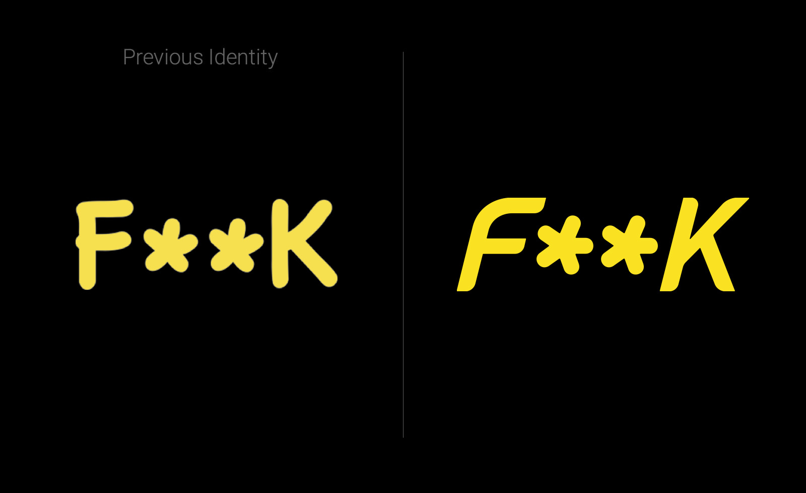 effek F**K beachwear rebranding brand logo pitscheider maggipinto